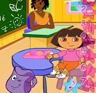 Dora Eğlenceli Okul Makyajı
