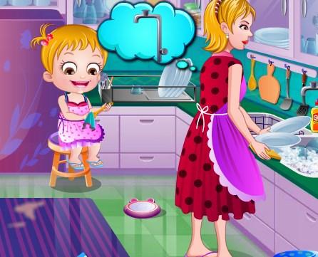 Hazel Ev Temizliyor