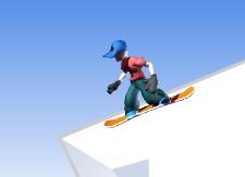Karda Uçan Snowbordcu